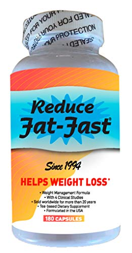 Reduce Fat-Fast Natural Weight Loss Dietary Supplement. Appetite Suppressant and Fat Burner for Women and Men (2 Months supply/180 Capsules)