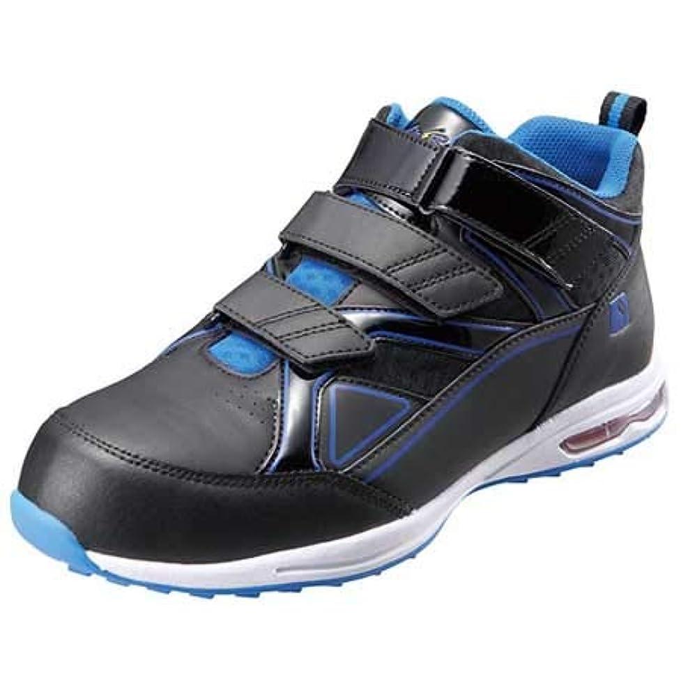 義務同一の液化する安全靴 安全スニーカー 4018 セーフティシューズ 鋼製先芯 静電 耐滑 ミドルカット マジックテープ