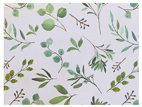 Elegant Greenery Printed Tissue Paper for Gift Wrapping with Floral Design, Decorative Tissue Paper - 20 Large Sheets, 20x30