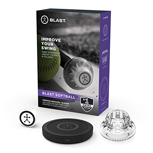 Blast Softball Swing Analyzer | Instant Feedback | Track Progress | Capture Video | 3D Swing Tracer | App Enabled, iOS and Android Compatible