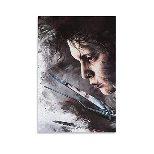 Cartoon Edward Scissorhands Canvas Art Poster and Wall Art Picture Print Modern Family Bedroom Decor Posters 20×30inchs(50×75cm)