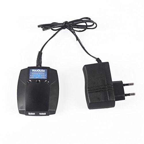 YouCute Caricatore Compatibile 2 in 1 Compatibile con mjx B2C B2W B2 Bugs 2w Bugs 2 RC Drone Spare Parts (Caricabatterie)