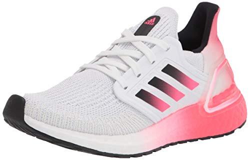 adidas Men's Ultraboost 20 Running Shoe, White/Black/Signal Pink, 8.5 D (M)