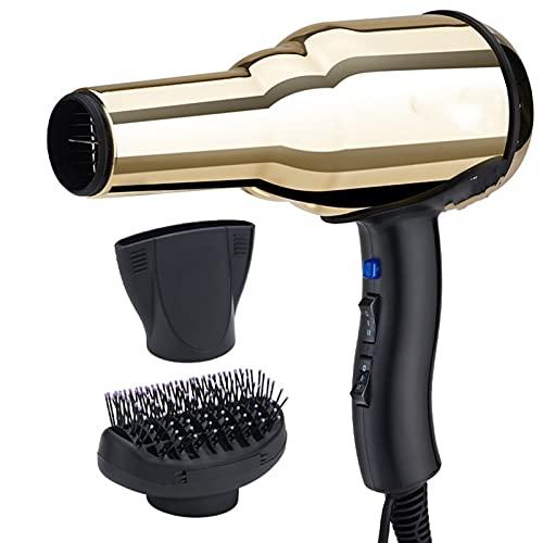 FXGSUWUY Diffuseur de Cheveux Professionnels Diffuseur Puissant Sèche-Linge Brosse Jaune Tous Metal Fort Verre Barber (Color : 3, Size : A)