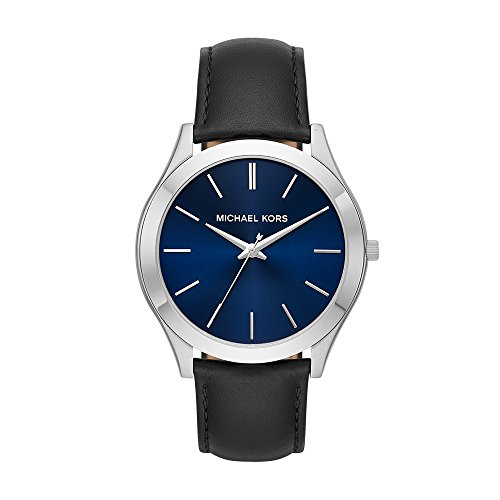 Michael Kors herenhorloge analoog kwarts horloge met lederen armband MK8620