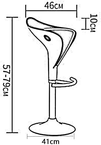 chaise FHW Protection Stable métal Face inférieure du châssis Tabouret Siège Ajustement supérieur clé en Plastique ABS ABS + métal (Color : Red) White