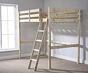 Strictly Beds and Bunks - High Sleeper Loft Bunk Bed, 3ft Single