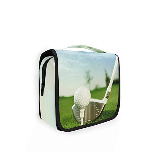 RELEESSS Trousse de toilette de voyage en forme de balle de golf à suspendre