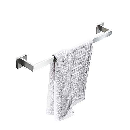 Kcakek High Quality Fashion Handdoekrek enkele staaf 304 roestvrij staal badkamer plank Accessoires Set Solid Towel Rod muur bevestigde Geperforeerde Ontwerp Waterproof Rust handdoekhouder