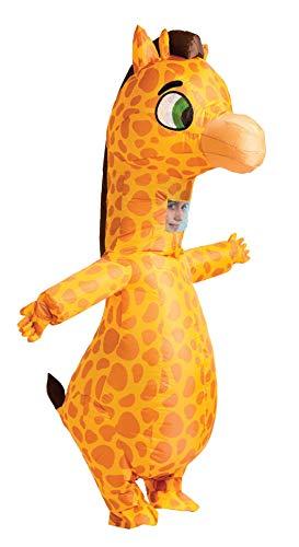 Spooktacular Creations disfraz de jirafa inflable de cuerpo completo, jirafa inflable, disfraz de lujo para Halloween, tamaño adulto