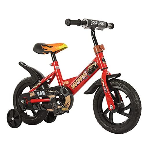 DHMKL 12 Pulgadas Bici Infantiles Bicicleta NiñOs con Ruedas Auxiliares Manillar RotacióN Libre áNgulo Completo 360 ° Sin Ruedas Inflables Adecuada NiñOs Y NiñAs 2 A 6 AñOs