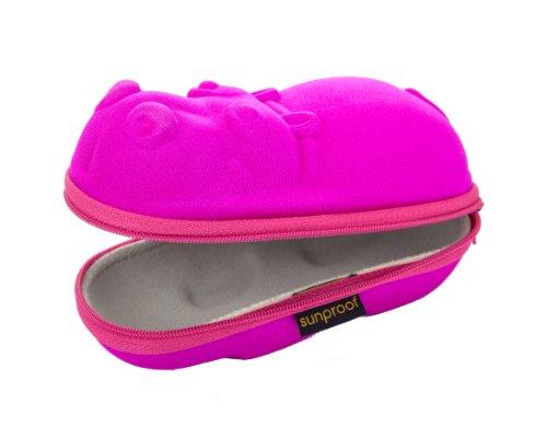 Yoccoes - Sunproof Carry Case - Pink Hippo, 15 x 6 x 5.5 cm