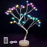 Lampada con luce ad albero Ramoscello Albero Bonsai Lampade da scrivania artificiali 16 Cambio colore 4 modalità Luci ad albero a batteria Decorazione della stanza per camera da letto, Natale