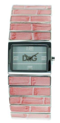 D&G Dolce&Gabbana Pasion de Ibiza/ DW0083 - Reloj analógico de mujer de cuarzo con correa de acero inoxidable rosa