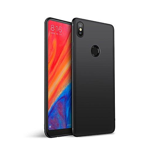 Olliwon Xiaomi Mi Mix 2S Hülle, Passgenaues Anti-Fingerabdruck Dünn Leicht Ultra Slim Schutz Handyhülle Bumper Case für Xiaomi Mi Mix 2S - Matt Schwarz
