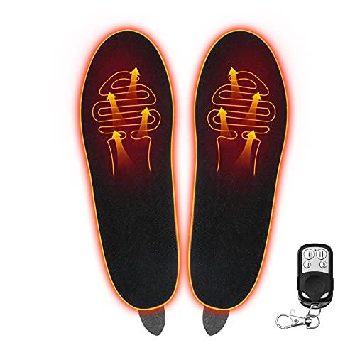 Dequate Beheizbare Einlegesohlen USB, Heated Insoles, Fußwärmer Sohlen Sohlenwärmer Wiederverwendbar Fusswärmer Einlagen Zuschneidbar Für Winterjagd Skiangeln Wandern
