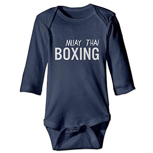 SDGSS Ropa para bebés Bodysuits Muay Thai Boxing Martial Arts MMA Unisex Baby Long Sleeve Bodysuit 100% Cotton