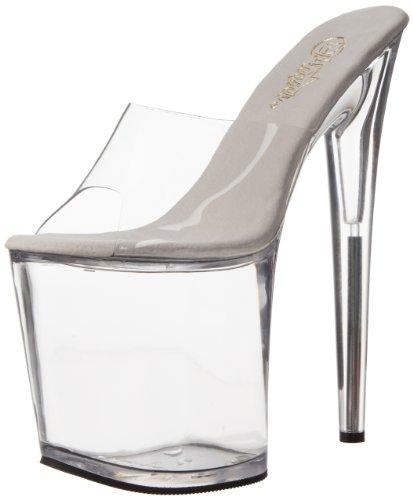 Pleaser Flamingo-801 - Zapatos de vestir de sintético para mujer, color Transparente (Transparent (Clr/Clr)), talla 38 EU