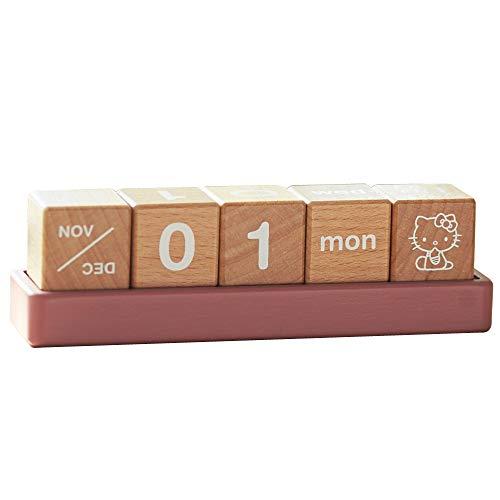 ハローキティ カレンダー ニチガン HELLO KITTY 木製雑貨 万年カレンダー 卓上カレンダー ハローキティ雑貨シリーズ HK9