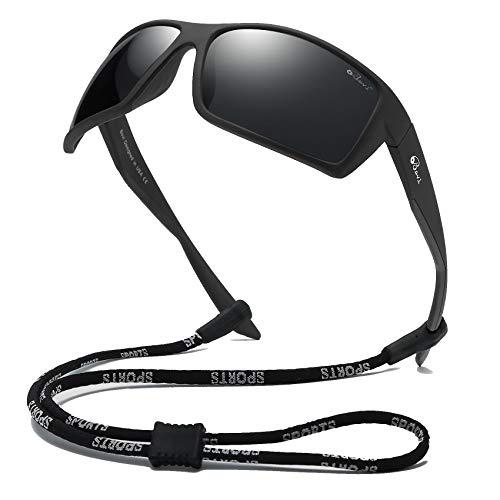 Bevi Sports Sunglasses Polarized Lens/TR 90 Frame with Spring Hinges Glasses For Men Women Cycling Running Baseball 2677C9