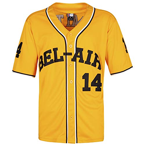 MOLPE #14 Baseball Jersey S-XXXL Yellow (S)