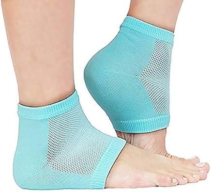 HappenWellHeel Pain Relief Silicone Gel Heel Socks | Heel Protector Socks For Men And Women (Multi Color - As per Availability)