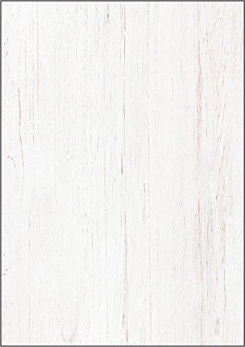 SIGEL DP242 Struktur-Papier / Karton Holz A4, 50 Blatt, Motiv beidseitig, 200 g - viele Modelle