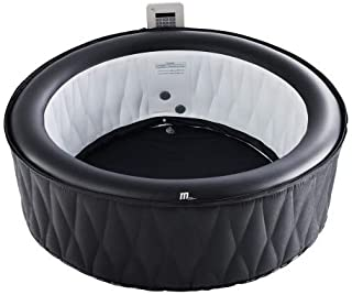 MSPA Premium Mont Blanc Relaxation and Hydrotherapy 118 Air Jet Bubble Spa Epi-Leather Style Round with X Beam Supreme Support