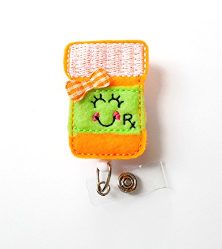 Paula The Prescription Bottle - Badge Reel - RX Badge Holder - Pharmacy Badge Holder - Pharmacist Badge Clip - Pharmacy Tech Badge - RX Gift