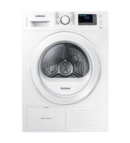 Samsung DV81F5E5HGW Libera installazione Carica frontale 8kg A++ Bianco asciugatrice
