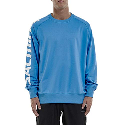 Salming Logo Warm Up Jersey Cyan Blue XXL