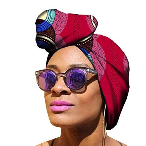Yijinstyle Mujer Étnica Pañuelo en La Cabeza Bufanda Africano Headwrap de Elasticidad para Amigable con La Piel