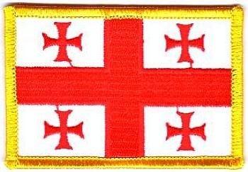 Flaggen Aufnäher Patch Georgien Fahne Flagge NEU