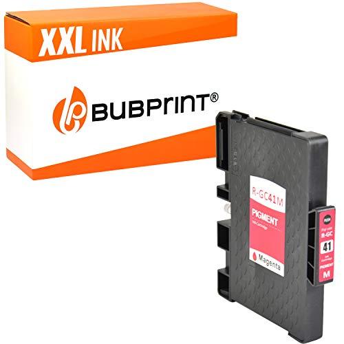Bubprint Druckerpatrone kompatibel für Ricoh GC-41 GC-41M für Aficio SG2100N SG3100SNw SG3110DN SG3110DNw SG3110SFNw SG3120 SG7100DN SG-K3100DN Magenta