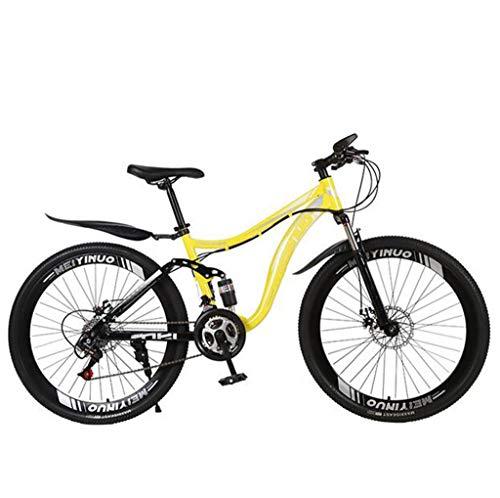 Bicicleta de montaña 27 velocidades Bicicleta antideslizante 26 pulgadas Neumático ARENA BICICLE DOBLE DISCO FRENO Suspensión Tenedor Suspensión Bicicleta para niños Chicas Hombres y mujeres,D