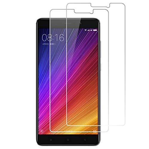X-Dision [2 Pack Protector de Pantalla de Vidrio Templado Compatible con Xiaomi Mi 5S Plus,[Ultra Resistente,Sin Burbujas,Fácil de Instalar] Protector de Pantalla para Xiaomi Mi 5S Plus