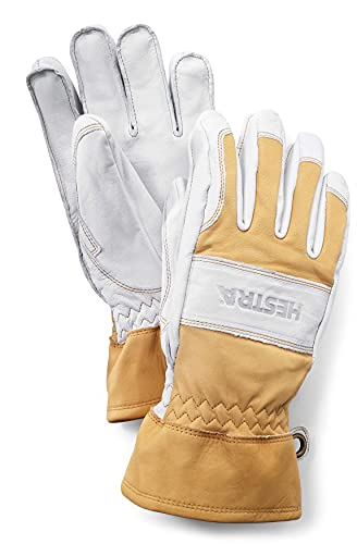 Hestra Falt Guide Glove for Winter, Hiking, and Outdoor Touring - Natural Yellow/Offwhite - 8