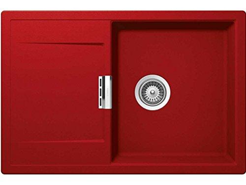 Schock Mono D-100 A Rouge Granit Spüle Rot Auflagespüle Einbau Küche