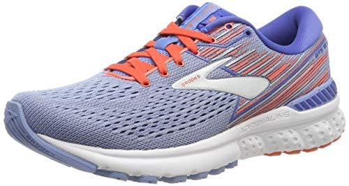 Brooks Women's Adrenaline Gts 19 Running Shoes, Blue (Grey Beluga Air Blue/Coral/Silver 467), 4 UK