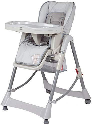 BabyGo Hochstuhl Tower Maxi höhenverstellbar grau