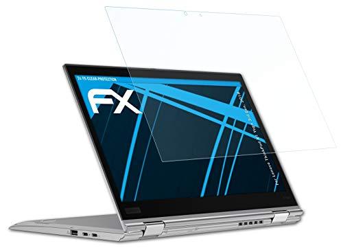atFolix Schutzfolie kompatibel mit Lenovo ThinkPad X1 Yoga 3rd Gen. 2018 Folie, ultraklare FX Bildschirmschutzfolie (2X)