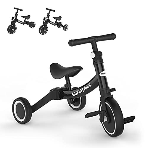 besrey Tricicli 5 in 1 Triciclo per Bambini da 1.5 a 4 Anni,Triciclo Senza Pedali,Bicicletta Senza...