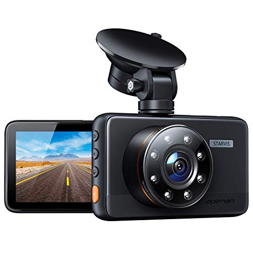APEMAN Dash Cam C660, Superior Night Vision with 8 IR Lights, 1080P Car Driving Recorder, 3'' IPS Screen, 170° Wide Angle, WDR, G-sensor, Parking Monitor, Motion Detection, Loop Recording, Support GPS
