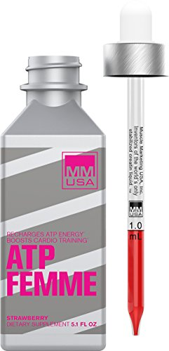 MMUSA ATP Femme Creatine for fit women, aerobics, pre workout, energy boost, extra strength, power, stamina, amino energy, stable & soluble creatine, lean body, instant absorption. Delicious flavor.
