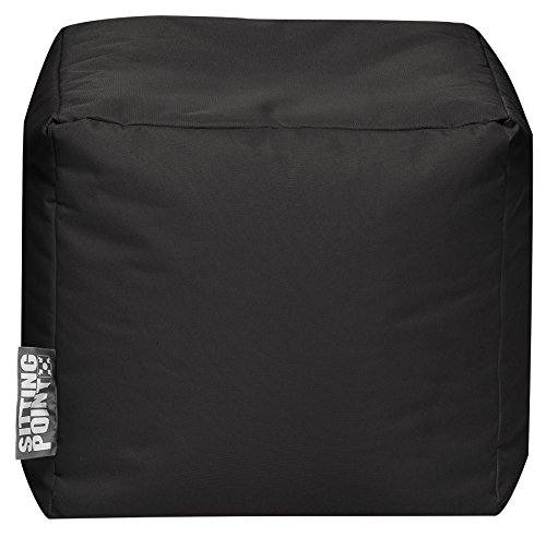 SITTING POINT only by MAGMA Sitzsack Scuba Cube 40x40x40cm schwarz (Outdoor)