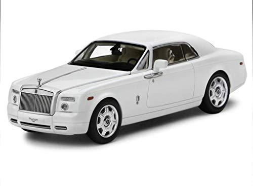 ZHWDD Modelo de Coche uno y Cuarenta y Tres Rolls Royce Phantom Coche Rolls Royce aleación Coche Modelo Exclusivo de colección Modelo (Color: Blanco) hefeide