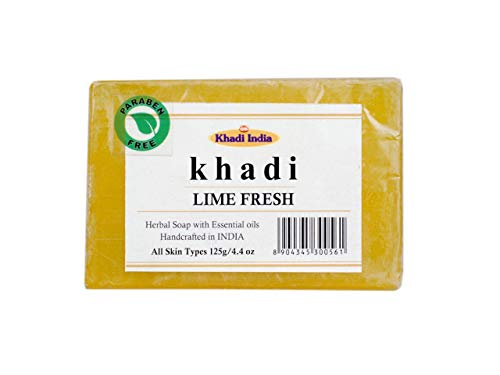 Khadi Lime Fresh Soap (Pack of 1) 125 gm by Eco Aurous