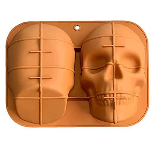 Molde de Pastel de Halloween Skull Silicone Haunted Cake Pan Herramientas para Hornear para Decoraciones de Fiesta Suministros para el hogar