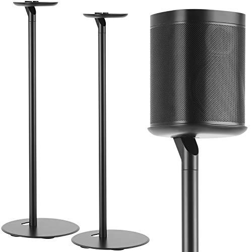 Maclean MC-841 Lautsprecher Bodenständer für Sonos One und Play Ständer Standfuß mit Kabelmanagement Halterung (2 Stück)