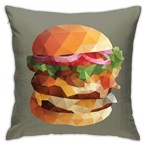 WH-CLA Fundas para Cojines,Funda De Cojín Gourmet Burger...